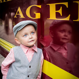 Reflections of the past by April Sadler - Babies & Children Children Candids ( #boy #reflection #train #rusk )