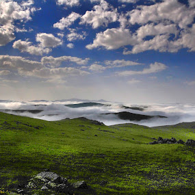 nature and clouds by Mustafa Tor - Landscapes Cloud Formations ( clouds, mountains, blue sky, nature, green )