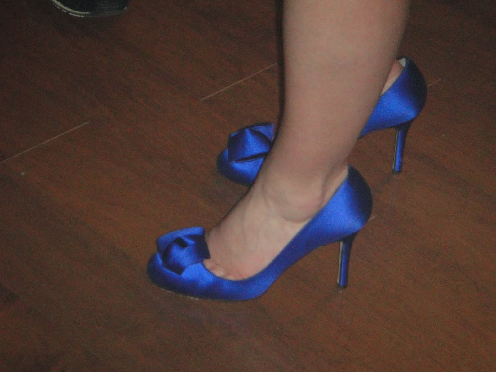 blue shoes wedding