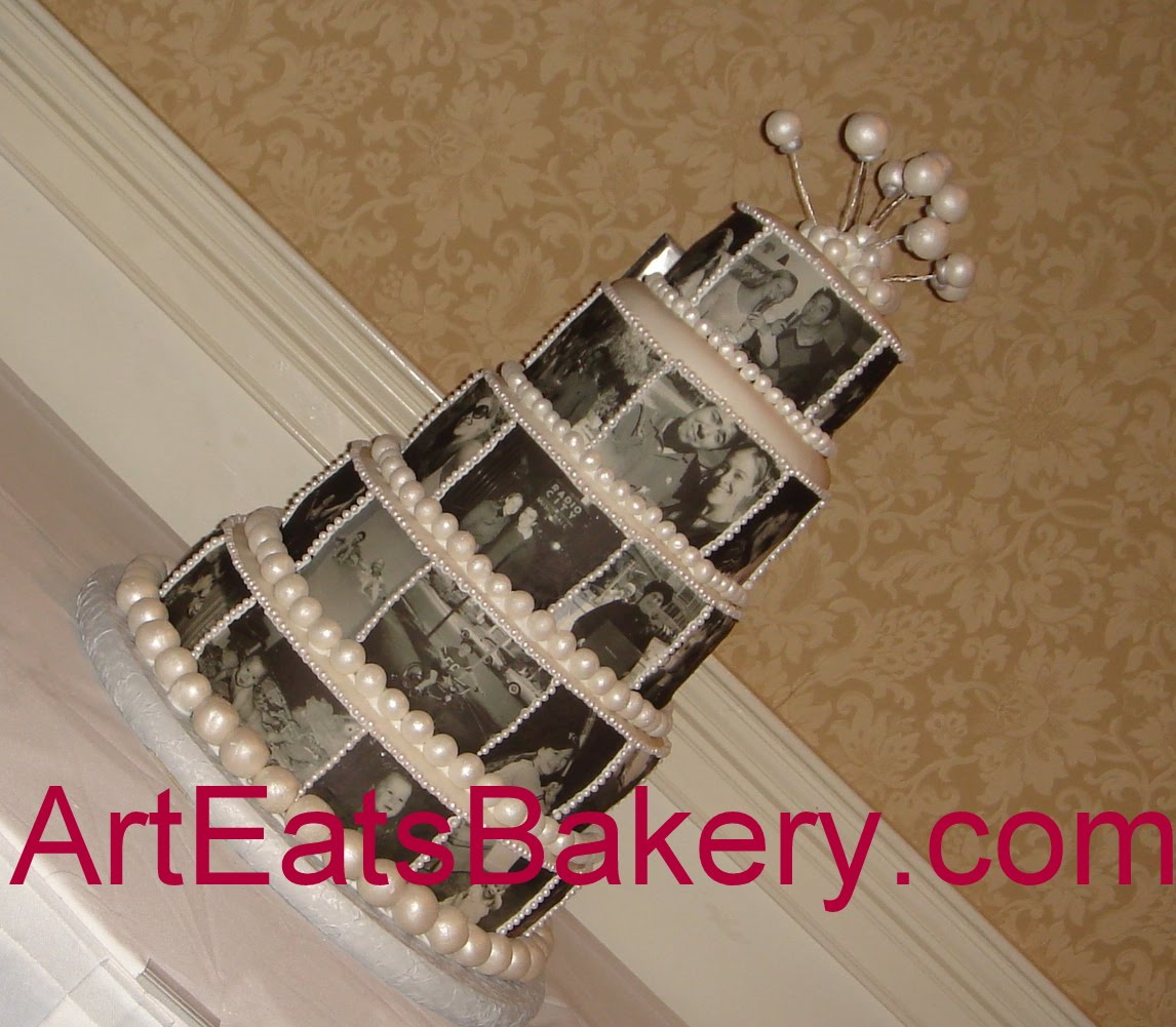 A wedding cake can be used to