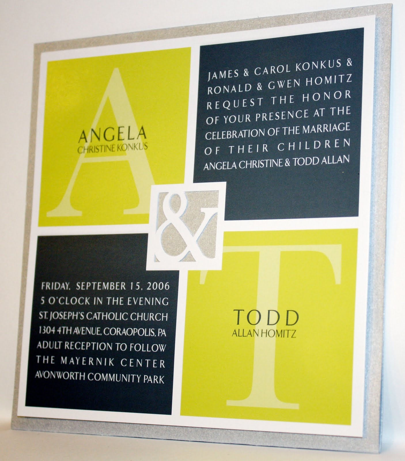 Square Wedding Invitations