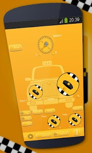 Taxi Poweramp Skin - screenshot