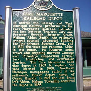 Completed in 1921 for the Pere Marquette Railway, this depot is typical of the railroad stations that served Michigan towns during the early decades of the twentieth century. The depot replaced an ...