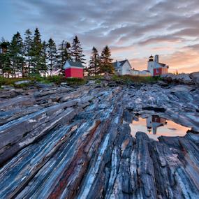 Pemaquid Sunrise by Tom Whitney - Landscapes Sunsets & Sunrises