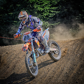 Noisy & Dusty by Marco Bertamé - Sports & Fitness Motorsports ( motocross, speed, downhill, dust, clumps, number, race, 88, noise )
