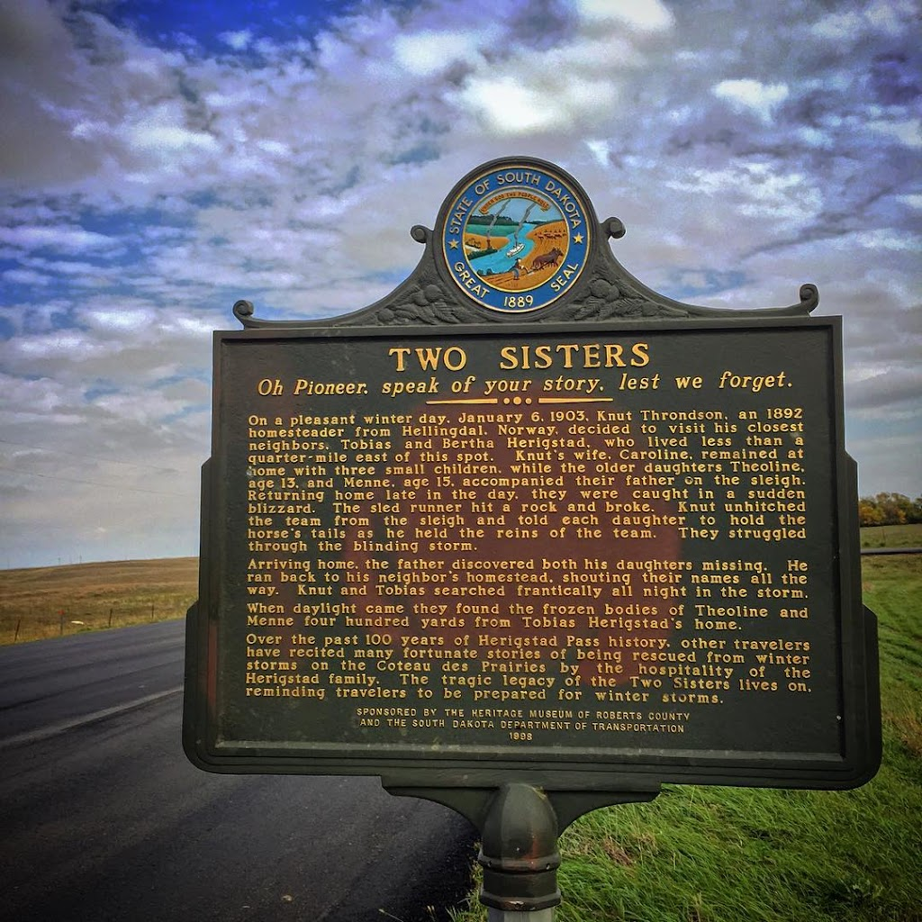 TWO SISTERS Oh Pioneer, speak of your story, lest we forget. On a pleasant winter day, January 6, 1903, Knut Throndson, an 1892 homesteader from Hellingdal, Norway, decided to visit his closest ...