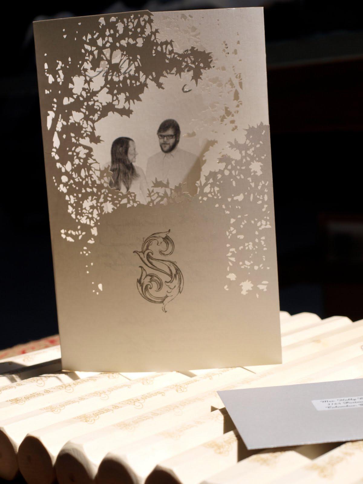 Personalized laser cut wedding