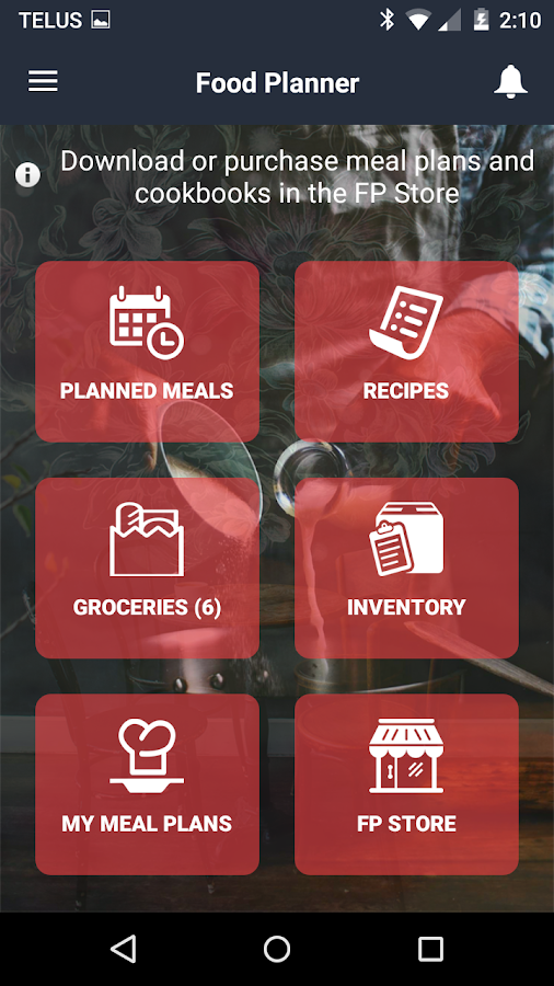 Food Planner Screenshot 0