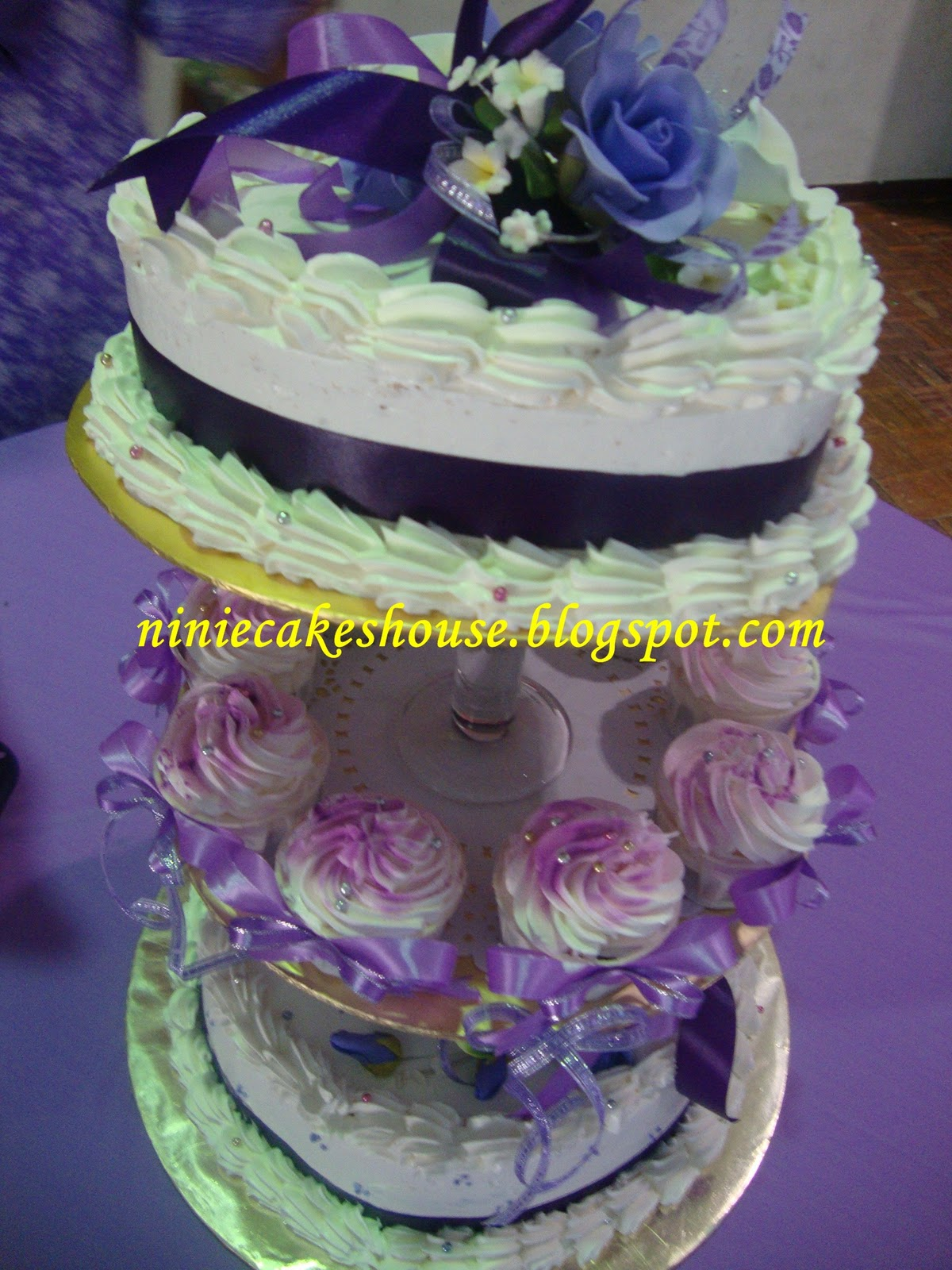Letha s blog 3 Tier Wedding cakes Purple n