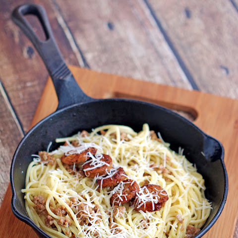 Italian Turkey Sausage Spaghetti with Garlic Butter Sauce