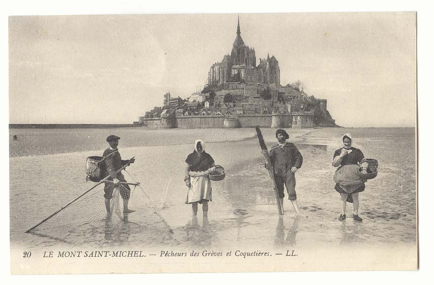 7 Habits of Highly Effective Archangels at Le Mont Saint Michel - Vintage Postcards