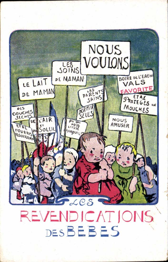 Political Babies Strike Back! - Pouting Vintage Postcards