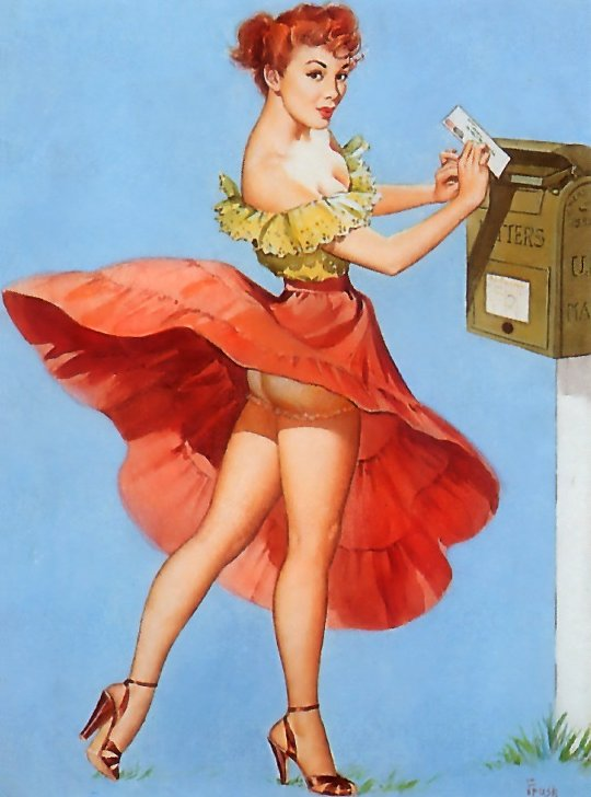Vintage Pin Up Postcard