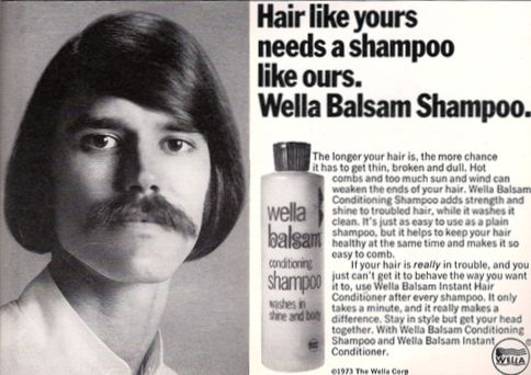 Wella Balsam Shampoo meets Cpaphil Vintage Postcards