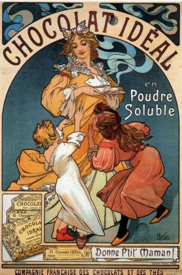 Chocoholic Spa & Yummy Vintage Postcards