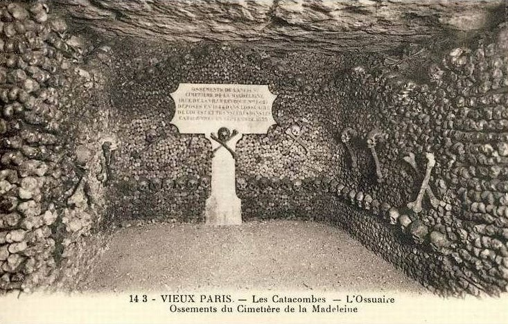 The Catacombs of Paris - Postcard Friday #43