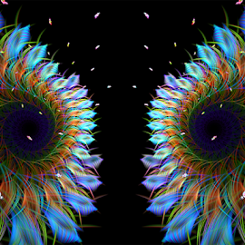 Daisy by Cassy 67 - Illustration Flowers & Nature ( digital art, fractal art, daisy, flowers, fractal, digital, fractals, flower )