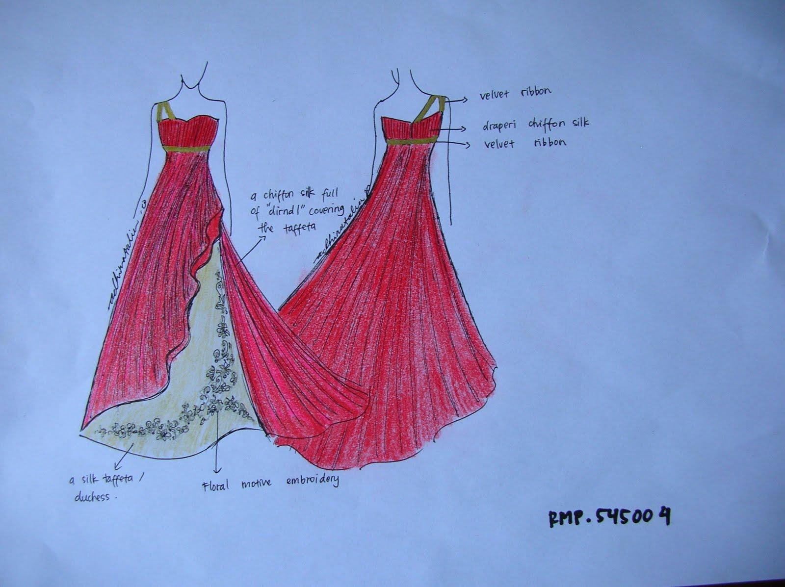 Desain Baju Pesta kerja sama