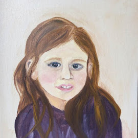 Girl in Purple by Melanie Levin - Painting All Painting