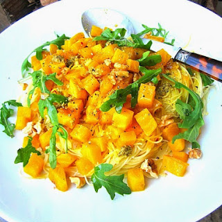 Capellini w/ Sauteed Golden Beets & Pesto