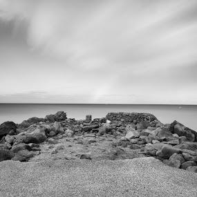 South Pier by David Benedict - Black & White Landscapes (  )