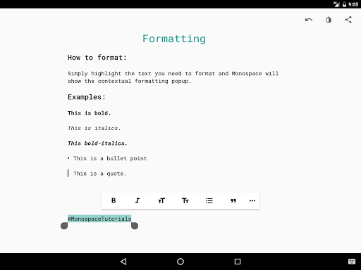 Monospace - Writing and Notes - screenshot