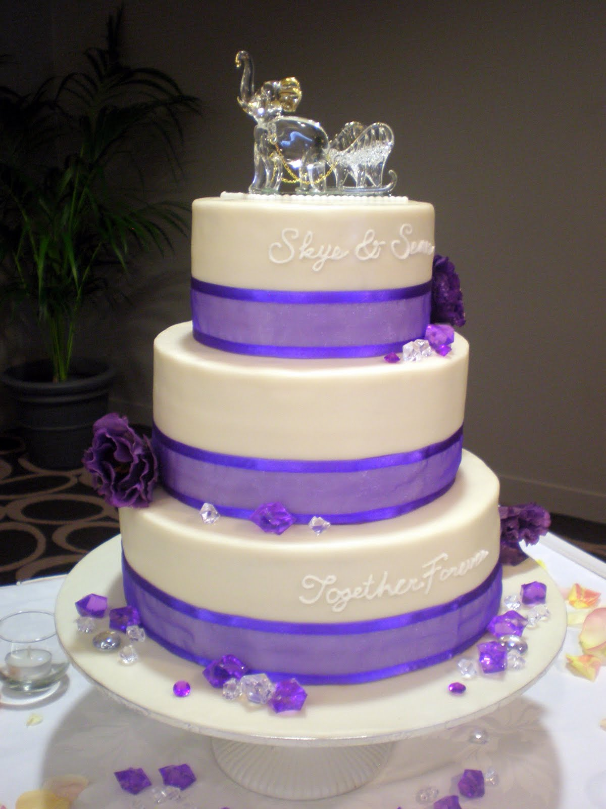 Sumaiyya s blog Purple Flower Wedding Cake