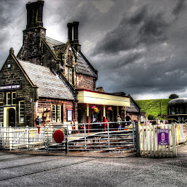 storm clouds over Cheddleton Station by Ray Heath - Buildings & Architecture Public & Historical