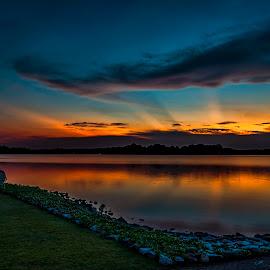 Sunset at Upper Seletar by Gordon Koh - Landscapes Sunsets & Sunrises ( natural light, reflection, sunset )