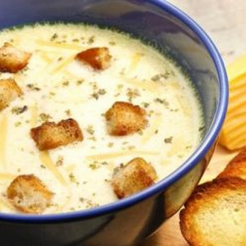 Potato Soup With Processed Cheese And Pearl Barley