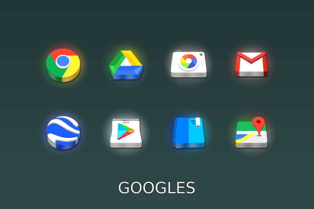 LED 3D Icon Pack Screenshot 5