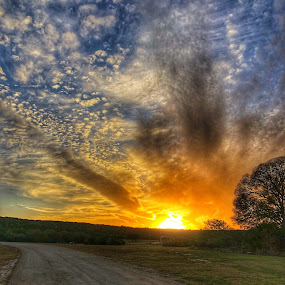 Texas Sunset by Victor Quinones - Novices Only Landscapes ( sunset texas iphone )