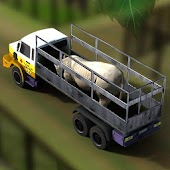 Transport Truck Zoo Animals 3D