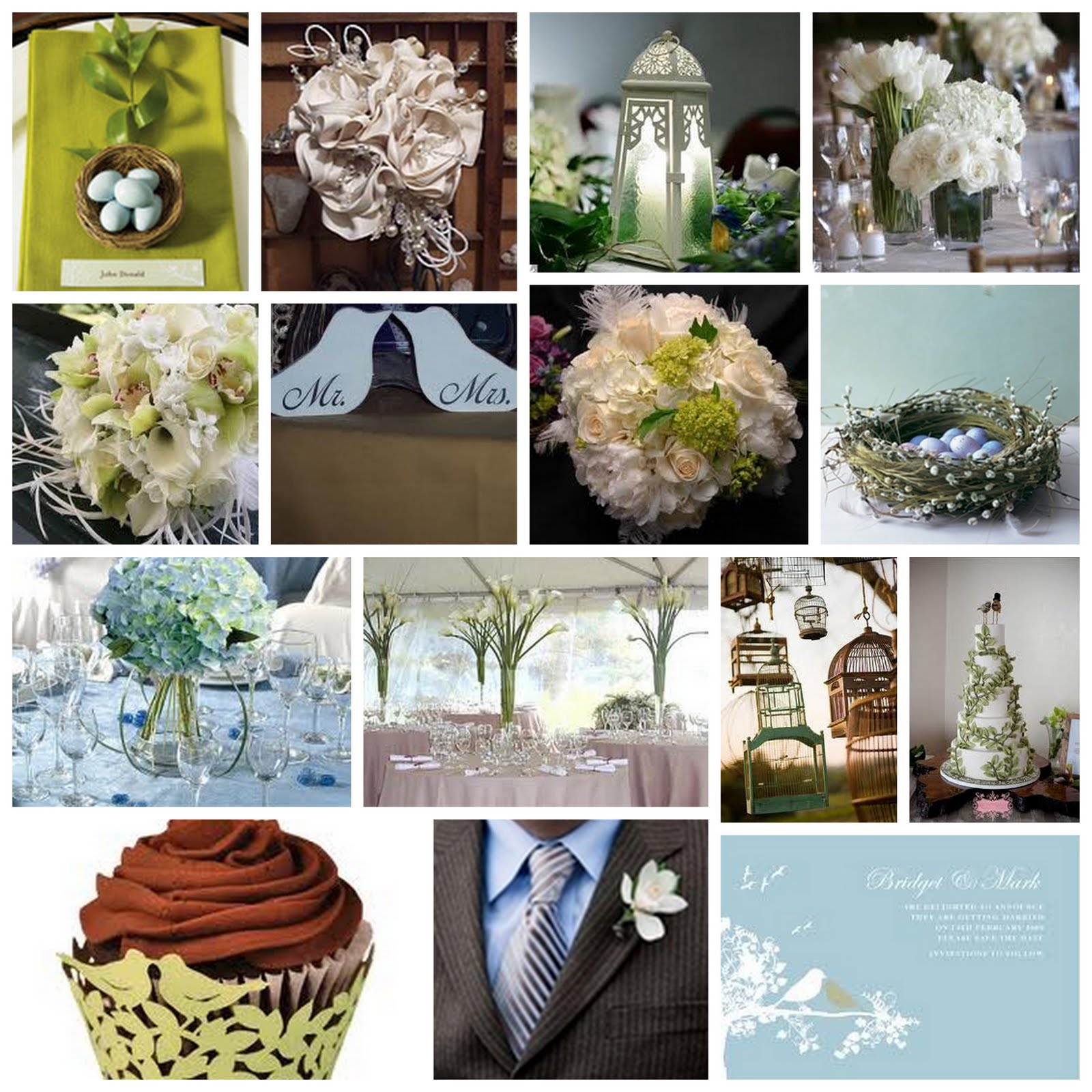 Love Birds Wedding Inspiration