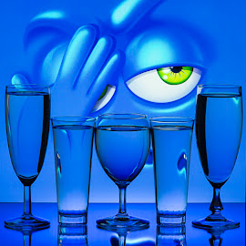Eddy Maerten by Eddy Maerten - Artistic Objects Glass ( blue, eye )