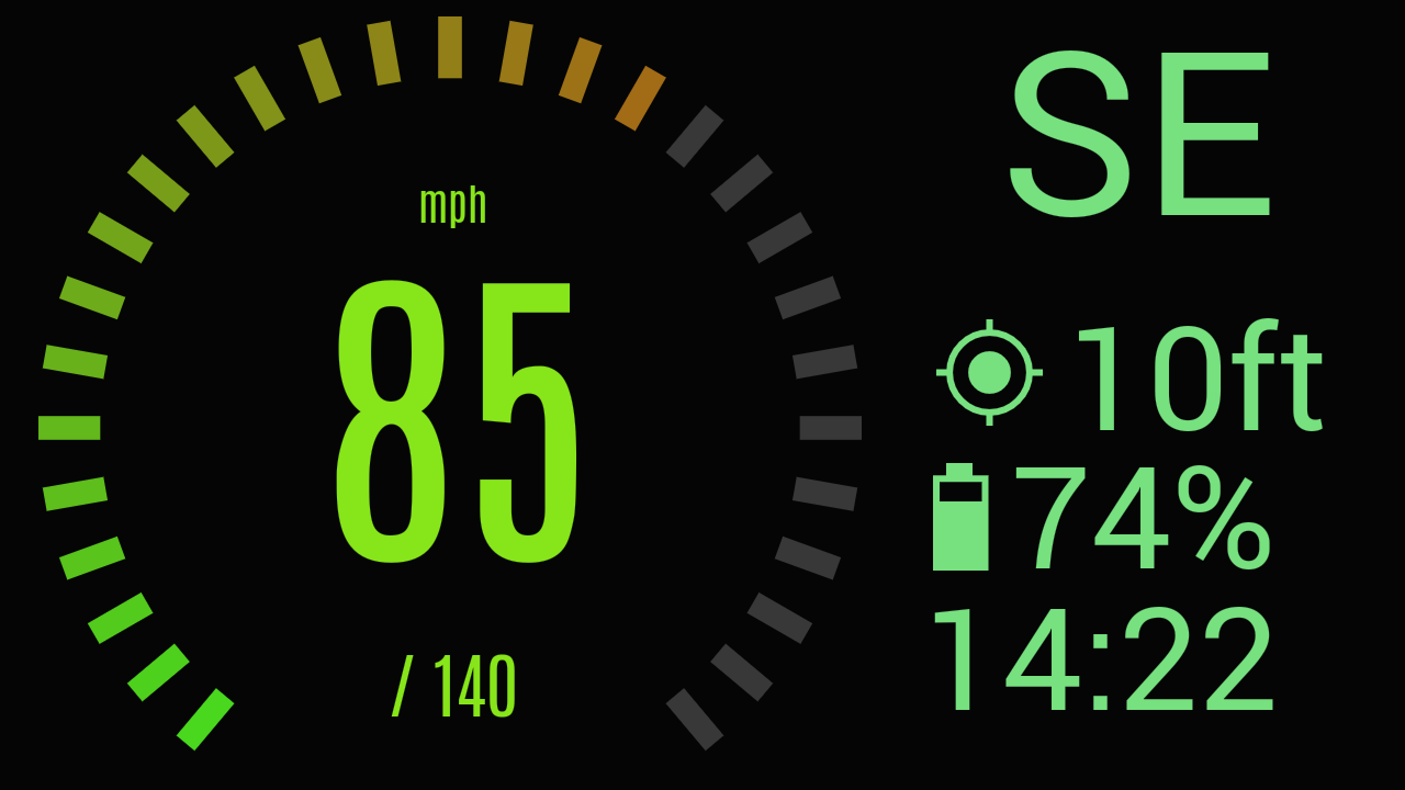 Custom HUD Speedometer Pro Screenshot 1