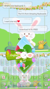 Easter Bunny Keyboard - screenshot