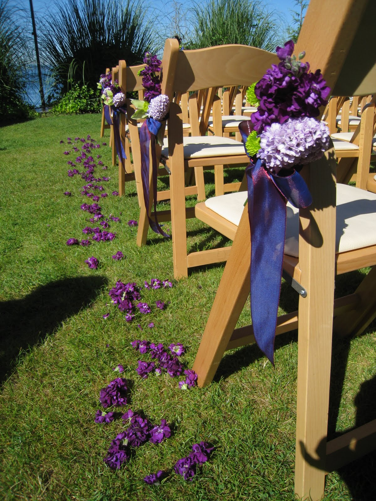 Purple and Green wedding-
