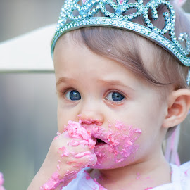 Pretty in PInk by Brandon Morgan - Babies & Children Babies ( cake, birthday, princess, girl, pink,  )