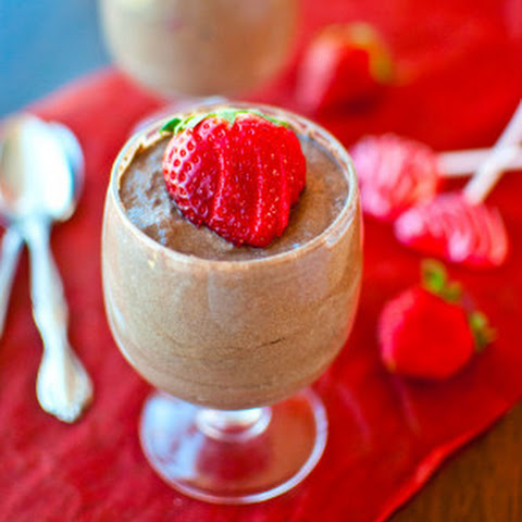 Low Fat, Super Light and Fluffy Chocolate Raspberry Mousse for Two