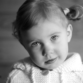 Leeya Ross by Kaylee Urban - Babies & Children Toddlers ( black and white, innocent, baby girl, blue eyes, toddlers )