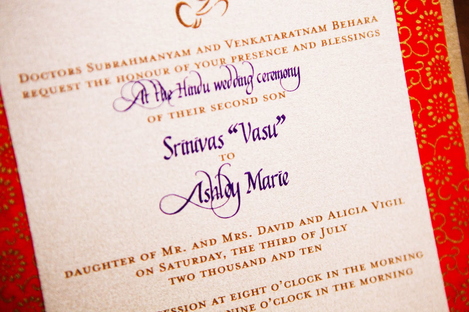 Linh\'s blog: Hindu Wedding Invitation Cards