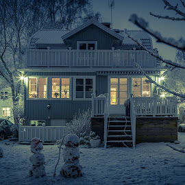 My house in this winter by Tomas Hermansson - Buildings & Architecture Homes ( home, winter, villa, snow, house )