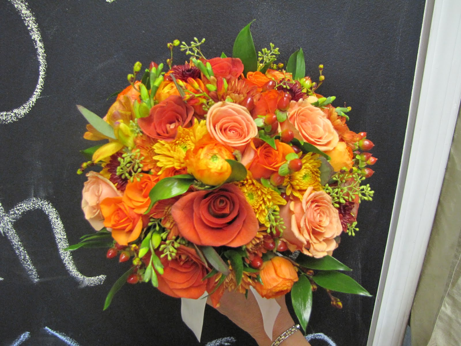 Fall wedding flowers are my