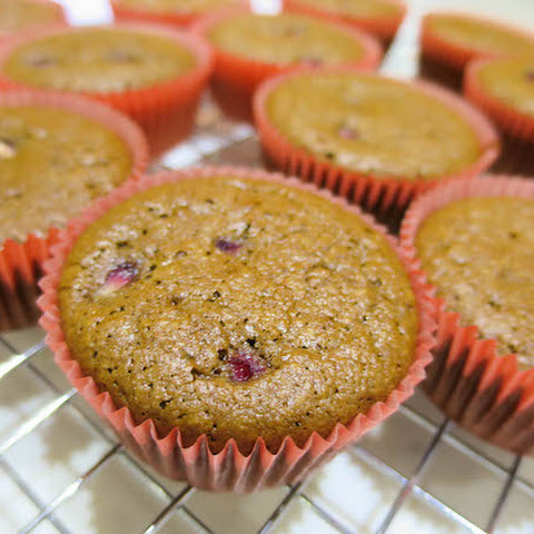 Almond Chocolate & Pomegranate muffins