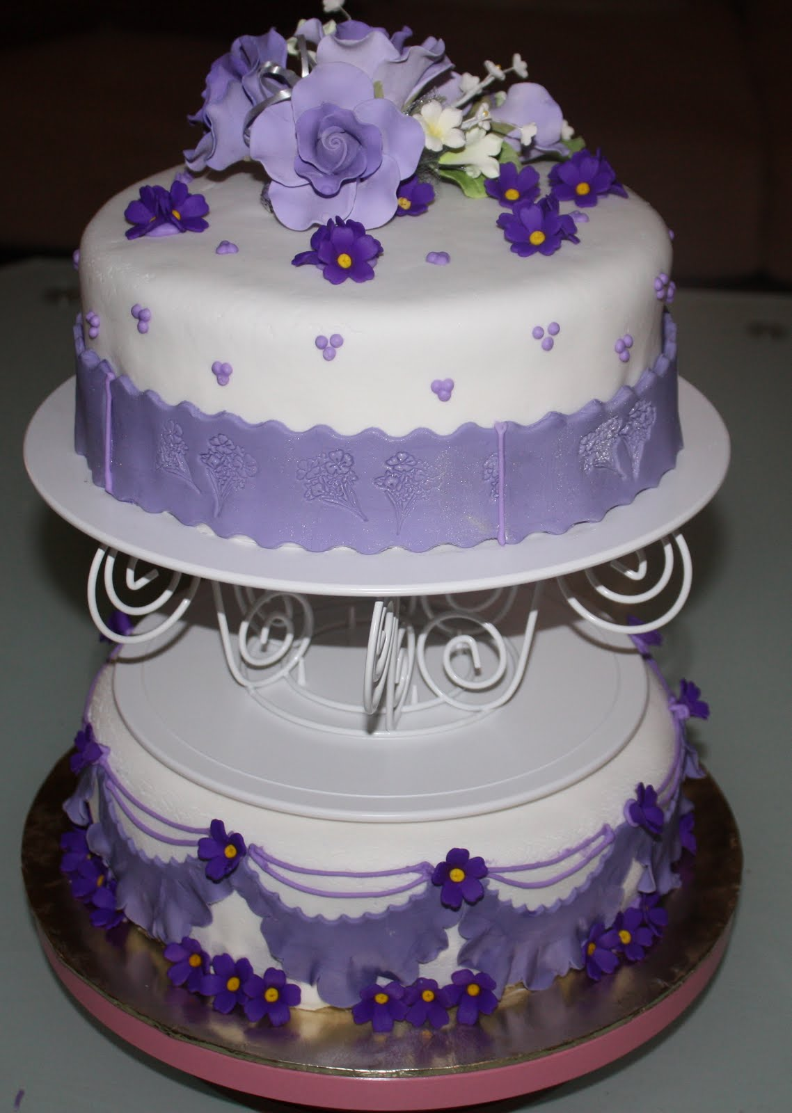 Halina s blog Silver & Purple Wedding Cake