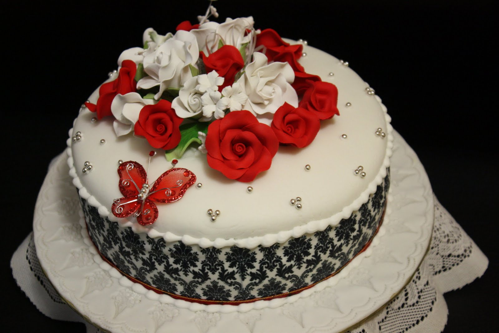 Damask Wedding Cake Kak Ain