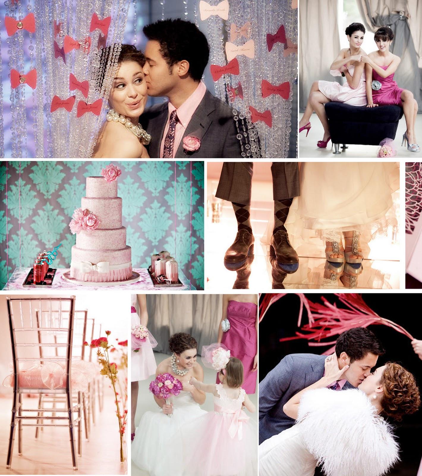 vintage pink wedding