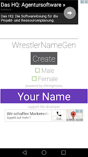 Wrestler Name Generator - screenshot