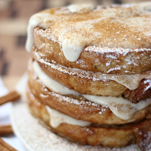 Cinnamon French Toast with Cream Cheese Glaze